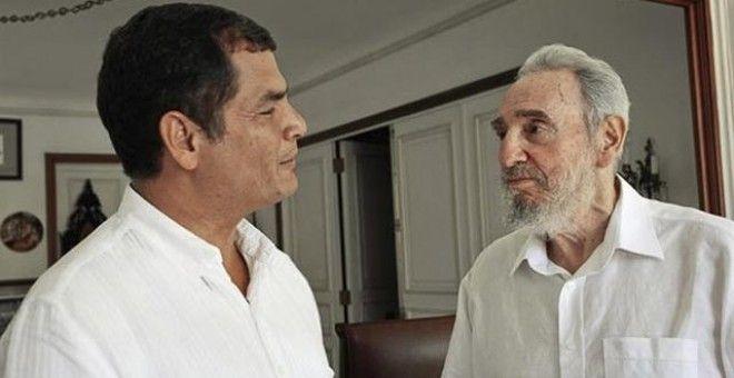 "Rafael Correa lamenta la muerte de Fidel Castro ""un grande"""