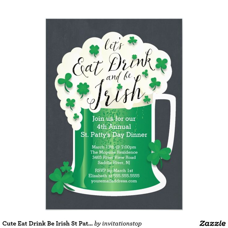 12 best St. Patrick\'s Day Party Invitations images on Pinterest | St ...