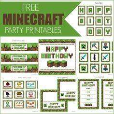 Minecraft: Kit para Imprimir Gratis. | Ideas y material gratis para fiestas y celebraciones Oh My Fiesta!