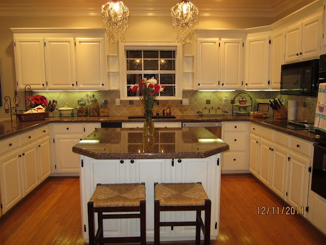 Painted White Kitchen Cabinets Home Pinterest Diy Cabinets Countertops And White Clay