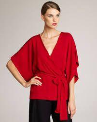Blusas de vestir rojas2016 6
