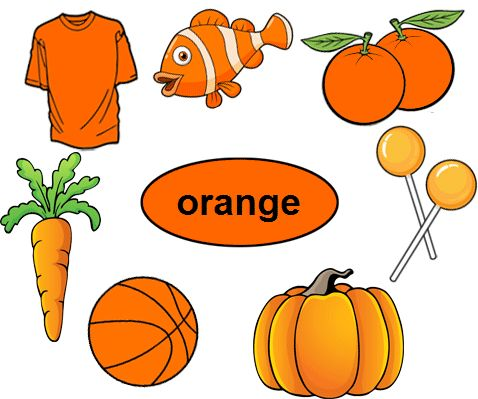 the color orange coloring pages - photo#10