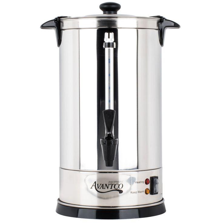 Avantco Cu55etl 45 Cup 225oz Double Wall Stainless Steel Coffee Urn Coffee Percolator 950w Percolator Coffee Stainless Steel Coffee Coffee Urn