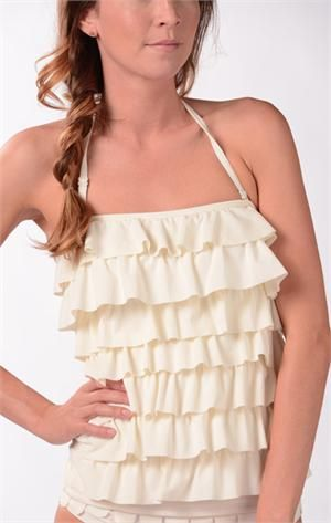 Graceful Waves Tankini- This is like my dream swimsuit for young/teen girls...too bad the bottom that matches is a tad bit skimpy.  Darling top though.