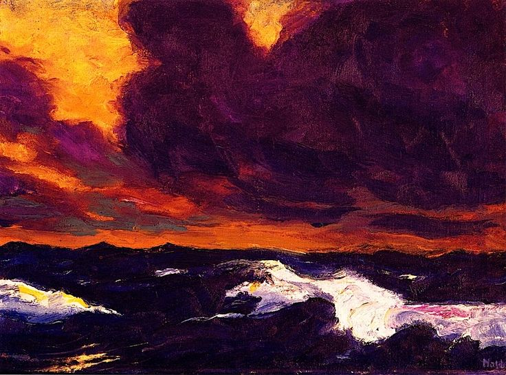 The Sea - Emile Nolde - 1930