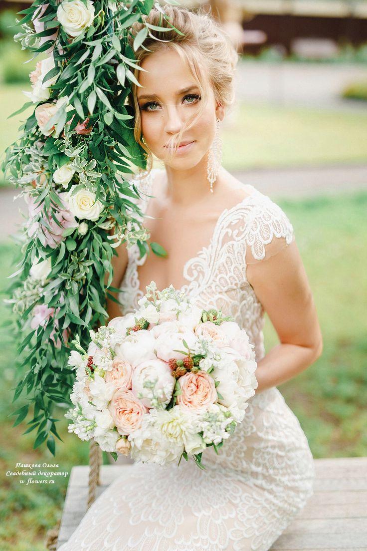 Букет невесты пудровый с пионами : bride's bouquet #букет #невесты