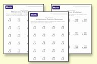 Free math worksheets from preschool through long division