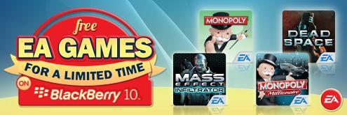 Hasta el 28 de Febrero, los usuarios de Blacberry podrán descargar gratis todos los juegos de EA desde Blackberry World (Blackberry 10).