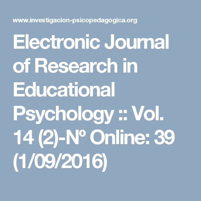 Electronic Journal of Research in Educational Psychology :: Vol. 14 (2)-Nº Online: 39 (1/09/2016)