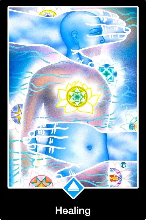 Healing, from the Osho Zen Tarot Card deck, by Osho