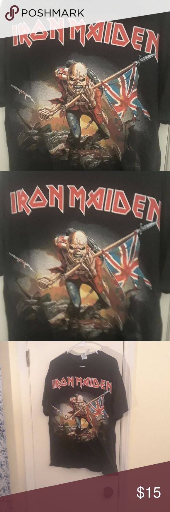 """Iron Maiden The Trooper T-Shirt Men's XL Iron Maiden The Trooper T-Shirt Men's XL Top to Bottom  28"""" Pit to pit  22"""" Arm length  7"""" Shirts Tees - Short Sleeve"""
