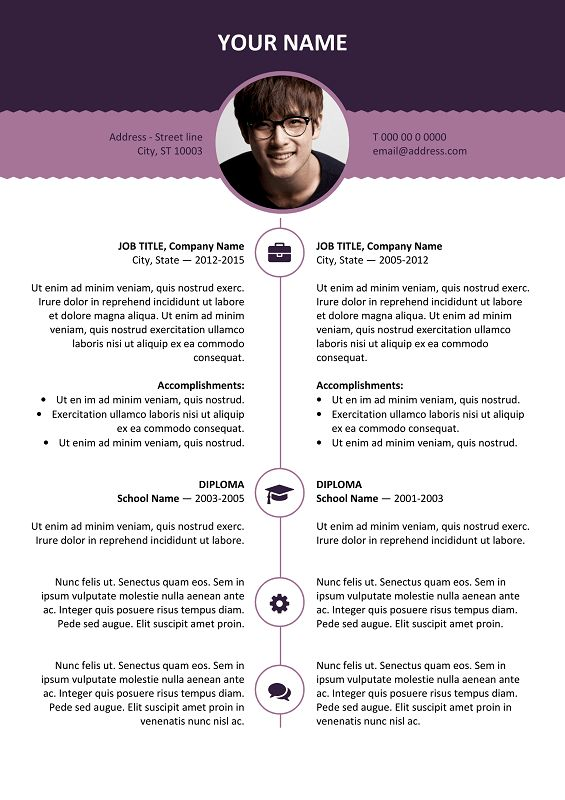 126 best Classic resume templates images on Pinterest Free - microsoft word template resume