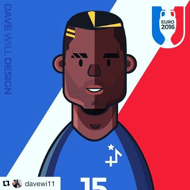 #Repost Congrats France on the opening win from @davewi11 #euro2016 starts today! You can get live fixture reminders to your device by turning on notifications in Instagram for my posts.  I'm also giving away free team avatars so you can show your support. Visit davewilldesign.com to get yours.  Here is France who are in Group A #france #francefootball #vintagefootball #classicfootball #euro2016 #football #footballshirt #footballshirtcollective #classicfootball #vintagefootball