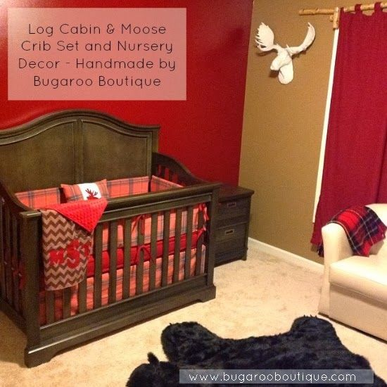 17 Best Images About Baby Boy Nursery :: Moose/Log Cabin