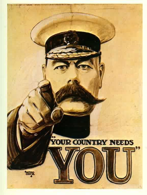 'Your Country Needs You' - The myth about the First World War poster that 'never existed' - War History Online  Well I never...