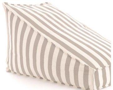 Trimaran Stripe Indoor/Outdoor Wamp, Platinum transitional-dog-beds