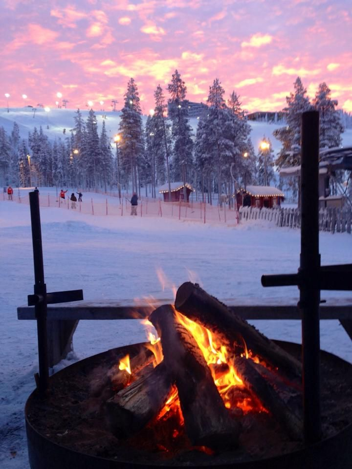 2013 - sitting by the fire watching the sunset in the beautiful Finnish Lapland. This is my own photo #copyrighted