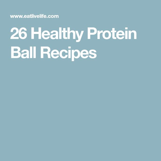 26 Healthy Protein Ball Recipes