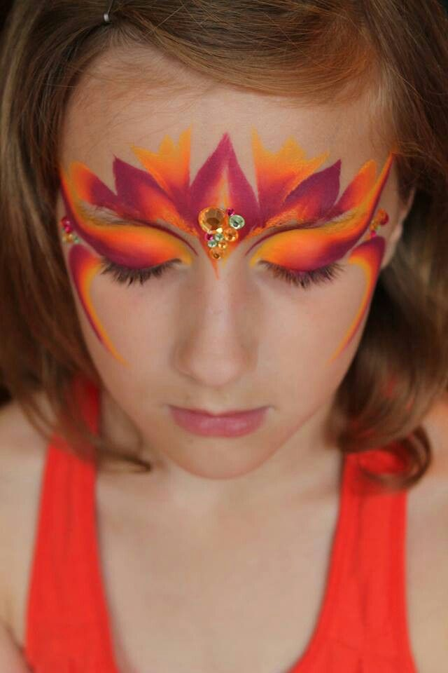 Best 25 cool face paint ideas on pinterest face makeup for Fairy painting easy