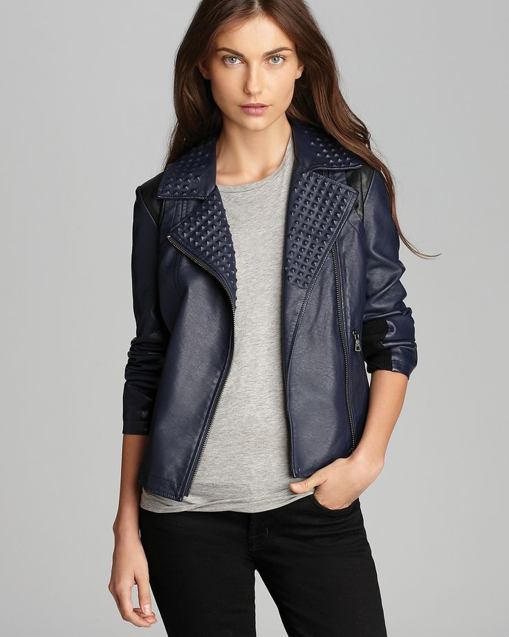 Peyton Studded Faux Leather