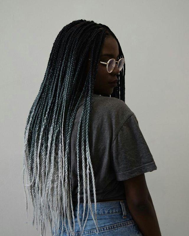 Pleasing 17 Parasta Ideaa Grey Box Braids Pinterestissae Letit Ja Pikkuletit Short Hairstyles For Black Women Fulllsitofus