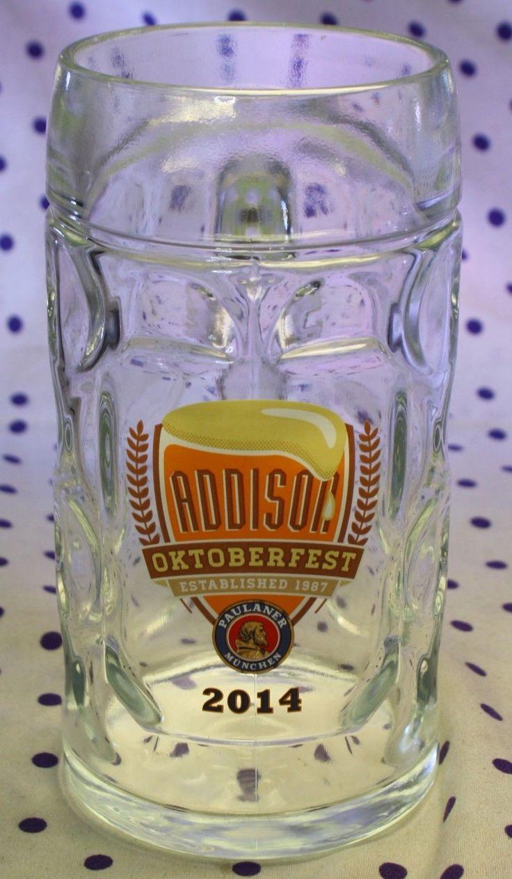 Addison Texas 2014 Oktoberfest Octoberfest Dimpled Glass Stein Beer Mug Paulaner