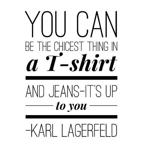 Karl Lagerfeld Quote | Denim u0026 Indigo | Pinterest | Karl Lagerfeld Quotes and Jeans