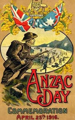 From the cover of a pamphlet published in 1916 - lesson activity for ANZAC day