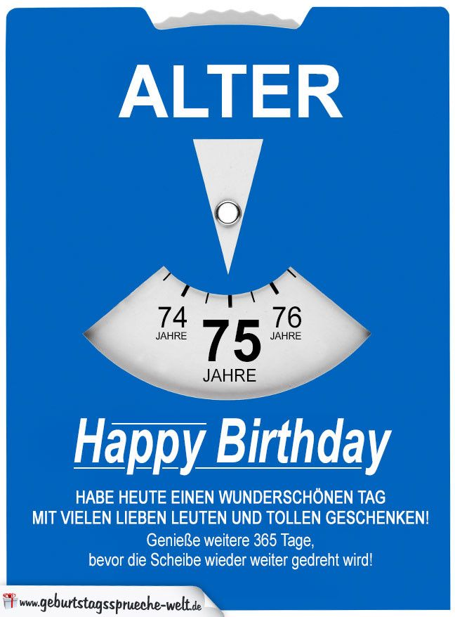 Geburtstagskarte Als Parkscheibe Zum 75 Geburtstag 20 Besten Ideen