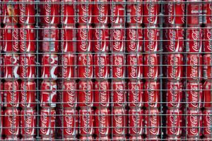 Coca Cola Can Gabion Wall - Hazysunimages / Getty Images