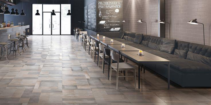 Piastrelle in gres porcellanato effetto cemento. Decoro Blend Collezione Carnaby:  http://www.supergres.com/your-home/pavimenti/item/571-carnaby  #gres #EffettoCemento #ConcreteLook #CeramicsOfItlay