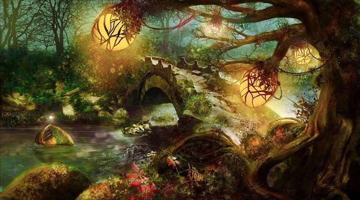 Bosque Encantado Con Luces Y Mucha Mag 237 A Hadas Hados
