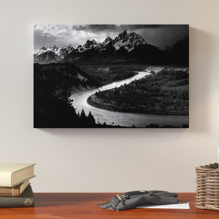 The Tetons Snake River By Ansel Adams Photographic Print On Wrapped Canvas On Wayfair Wall Art Art Canvas Art