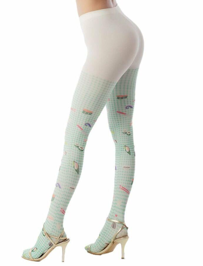 f1d3e1ac5728b iB-iP Women's hosiery cute sushi cartoon nylon plaid Mid Waist Pantyhose  Tights#hosiery#cute#sushi