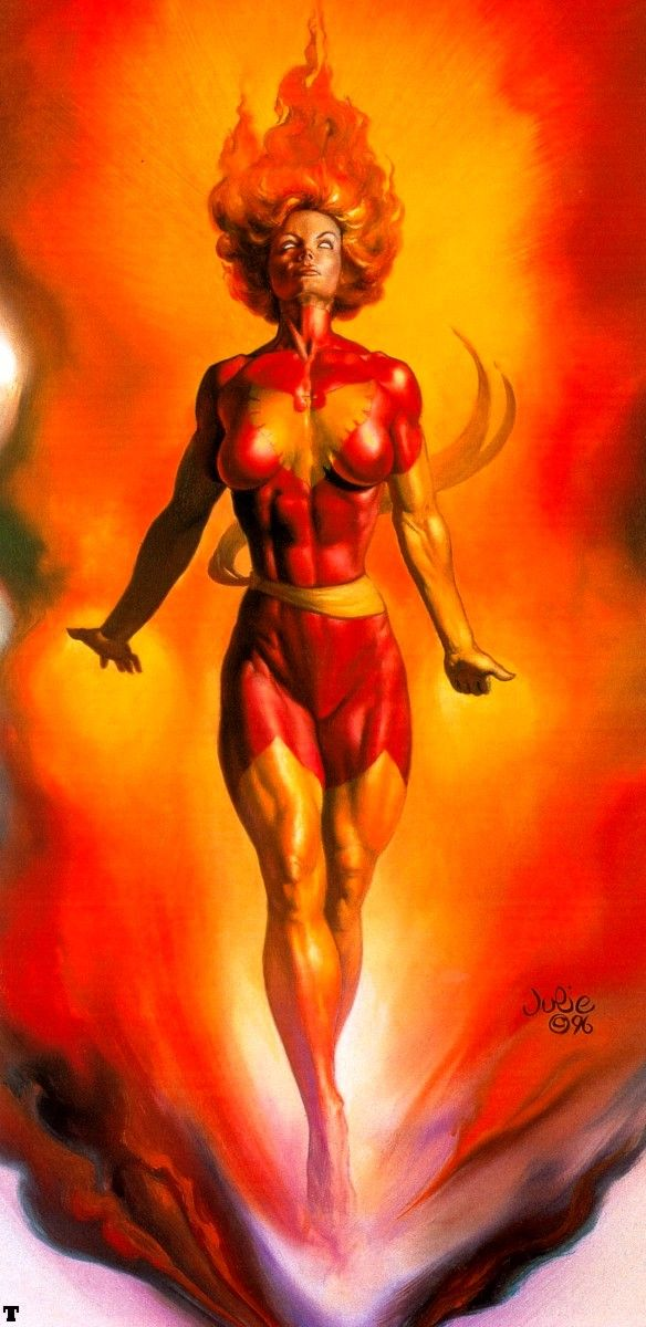 Dark Phoenix by Julie Bell                                                                                                                                                      More
