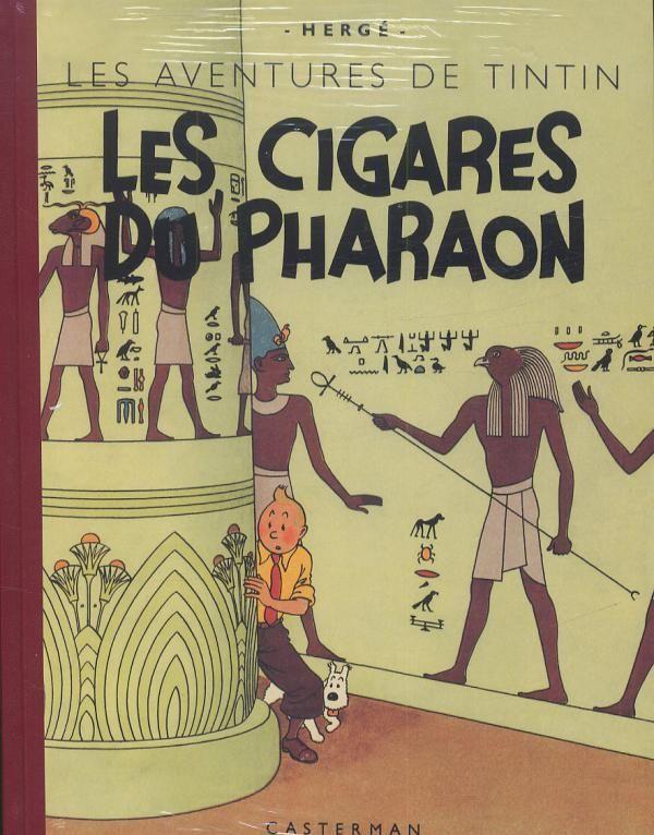 Facsimile black & white edition - Les cigares du pharaon - Hergé's Tintin