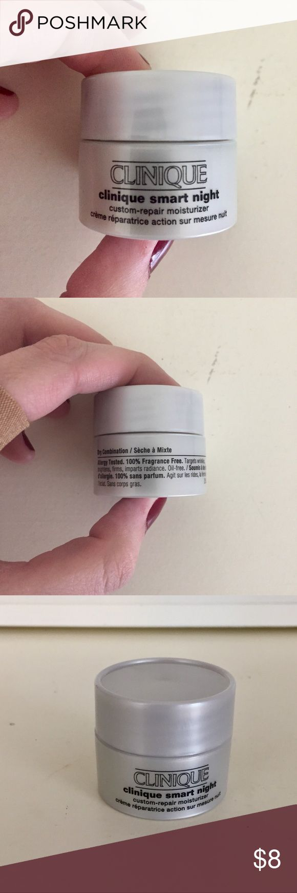 Clinique Smart Night Custom Repair Moisturizer for dry combination skin. allergy tested. 100% fragrance free. unopened. comment any questions Clinique Makeup