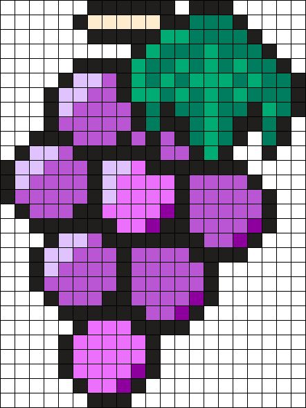 Grapes Perler Bead Pattern / Bead Sprite
