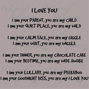 Such a great poem - My Boys are my I Love You.