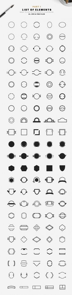 260 circles and unique badges as AI, EPS, and PSD files.