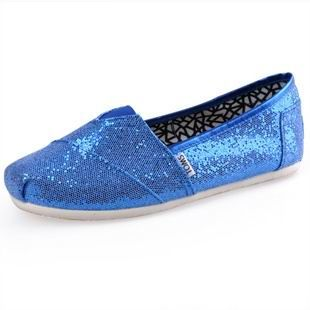 Cheap Youth Glitters Blue Blue Toms Shoes