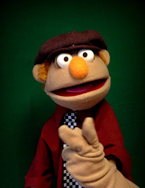 Custom Antron Fabric Professional Rod Hand Puppet Portrait Puppet caricature…