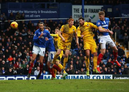 Michael Smith scored with a header against Bristol rovers as Pompey win 3-1 at fratton park League 2 season 2015-16