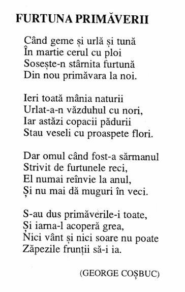 Carmen Sylva Poezii - Furtuna Primaverii