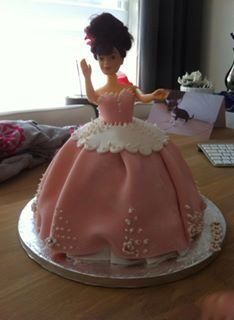 Prinsessentaart die ik gemaakt heb voor Livia's 4e verjaardag.