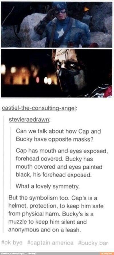 Civil War Captain America And Winter Soldier mask aesthetics