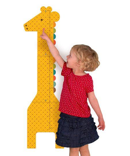Petit Collage Giraffe Growth Chart   zulily