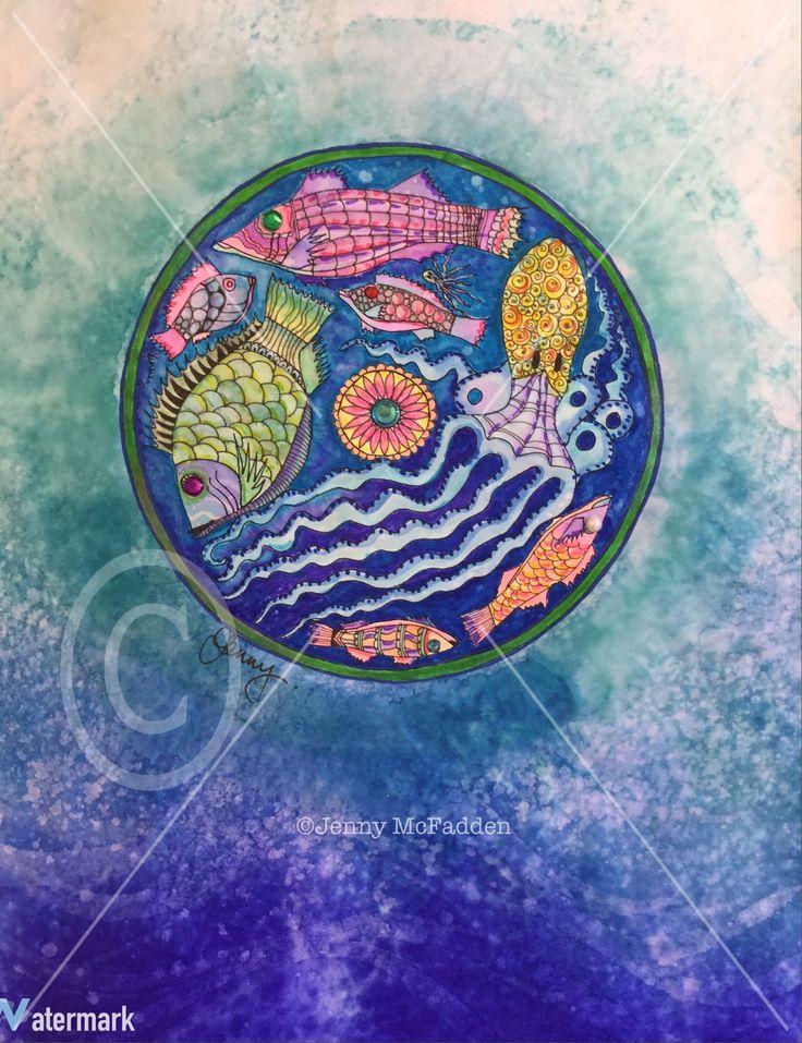 Mandala inspired by Greek pottery by Jenny McFadden