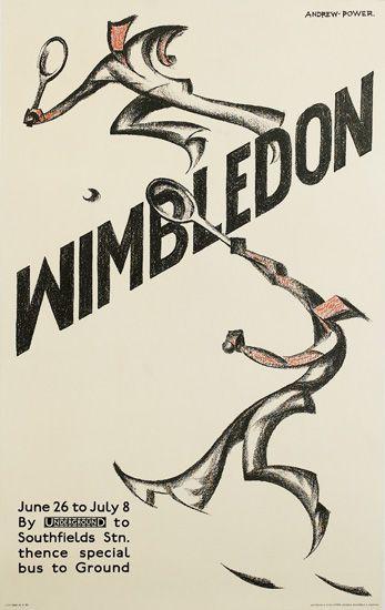 Sybil Andrews's Wimbledon, 1933, designed under the pseudonym, Andrew Power