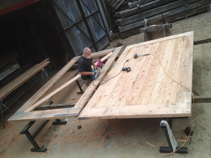 Kenney Pierce Timber: Making the Recycled Timber Barn Style Doors. #Recycled Timber # Reclaimed Timber #Architctural Timber #Furniture #Timber